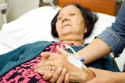 elderly person with terminal illness