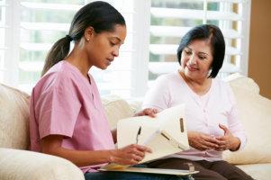 Elderly with nurse